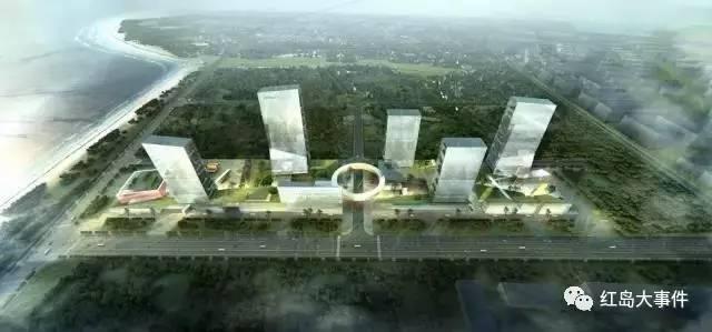 红岛将建青岛第一高楼?390米双子塔超海天中心