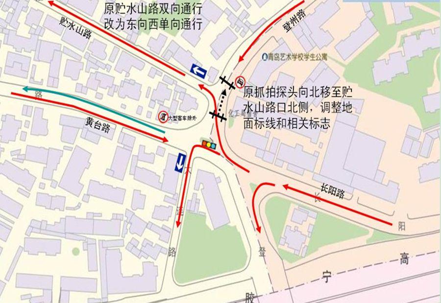 青岛单行线地图2014