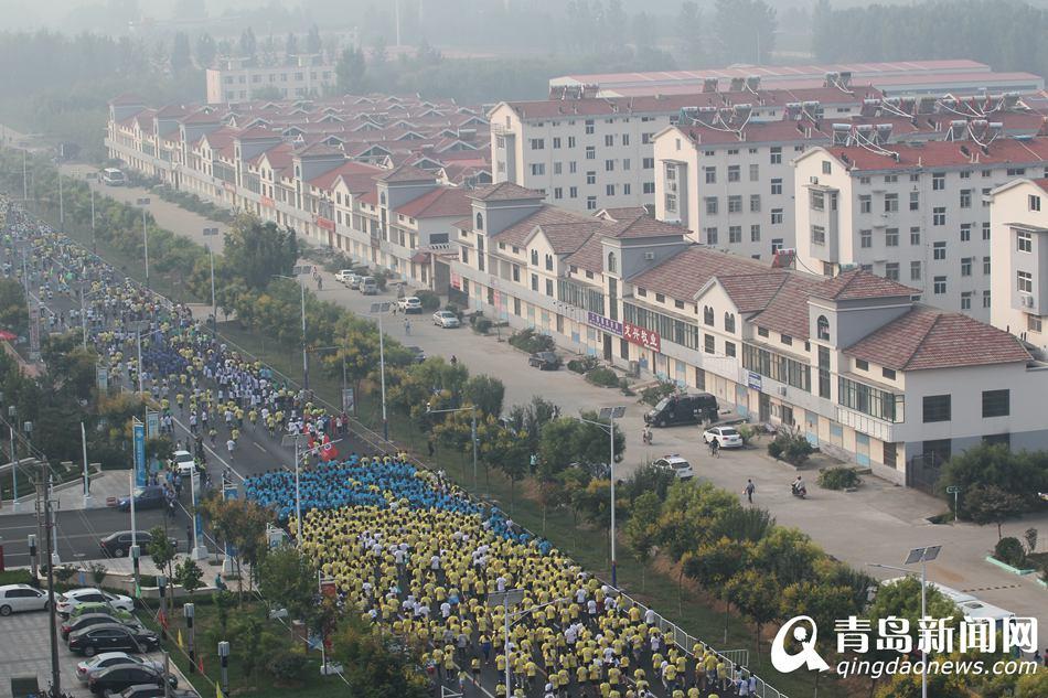 9月19日,青岛2015世界休闲体育大会2015青岛莱西国际马拉松赛,在莱西