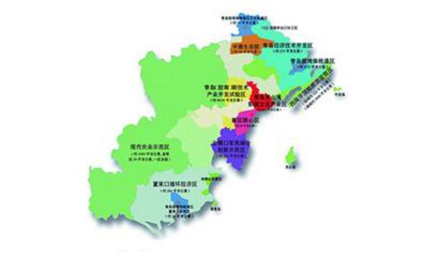 西海岸总体规划:布局一核双港三带多区