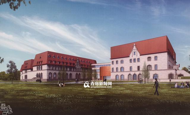 高清:市民健身中心和青岛中学主体全封顶